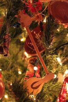 Homemade Christmas Ornaments from piano parts