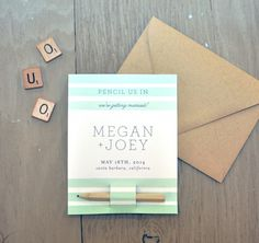 24 Creative DIY Save the Dates Your Guests Will Love via Brit + Co.