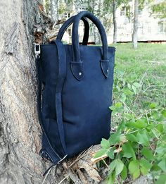 Check out this item in my Etsy shop https://www.etsy.com/listing/536694471/leather-navy-bag-tote-bag-with-zipper