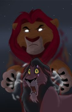 Haunted by on DeviantArt Lion King 1, Lion King Fan Art, Lion King Movie, Sad Disney, Disney Fan Art, Lion Wallpaper, Apple Wallpaper Iphone, Painted Ukulele, Lion King Pictures