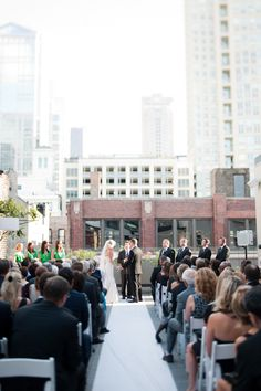 Hmm, could I do a wedding-in-the-round up there? Chicago EPIC Restaurant wedding by Melissa Hayes Photography