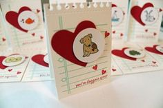 Cute mini card idea using #PTI dies and stamps