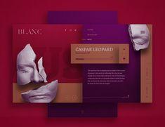 Blanc Magazine - Website design, landing. Silver Kane design