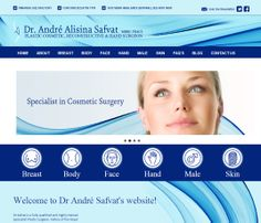 Beautiful #web #design for a well known Sydney based Plastic Surgeon.