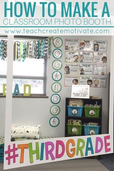 Tutorial for making a Classroom Photo Booth. Perfect for Open House or Back to School Night!