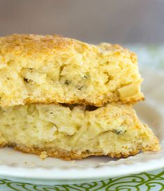 Apple Gruyere & Sage Scones | browneyedbaker.com #recipe  -- Sub Carmelized Onions for the apples to dupe scones from Gail's?
