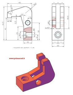 Elemento per bloccaggio Isometric Drawing Exercises, Autocad Isometric Drawing, Mechanical Engineering Design, Mechanical Design, Solidworks Tutorial, Image Pinterest, Interesting Drawings, 3d Cad Models, Sketch Design