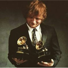 Ed Sheeran won 2 Grammys! No one deserves this more than him!
