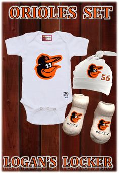 Baltimore Orioles Baby Set Choose Your Team by LAYLASRUNWAY, $29.99