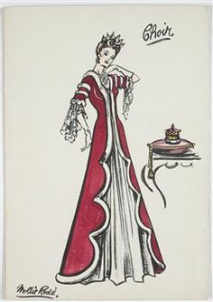 Costume design for Victory Queen Carnival, 'Choir' - Collections Online - Museum of New Zealand Te Papa Tongarewa