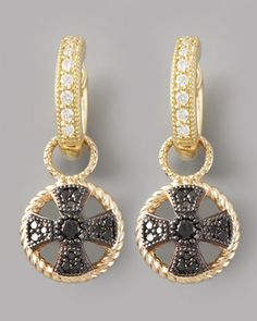 Diamond Cross Earring Charms By Jude Frances Jewelry At Neiman Marcus