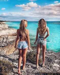 bff, tropical, and girls image