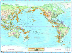 Map of Pacific with The Ring of Fire by Compart Maps from Maps.com is a beautiful map.
