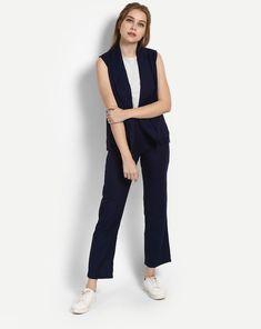 79e274f47b9c Buy Blue Cheryl Lapel Co-ords Trousers Set Online at StalkBuyLove |  IN1722MTOCOOBLU-305
