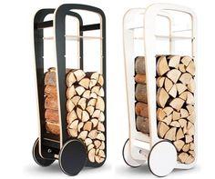 decovry.com - Fleimo | Design Wood Trolley Porte - buches