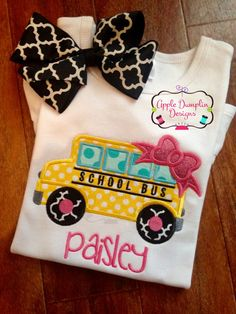 Hey, I found this really awesome Etsy listing at https://www.etsy.com/listing/465763393/school-bus-with-bow-applique-design