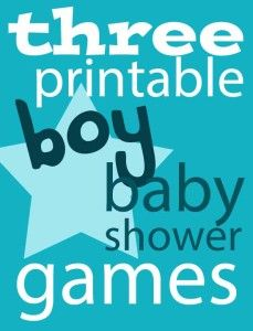 Free Printable Boy Baby Shower Games from @craftmoore