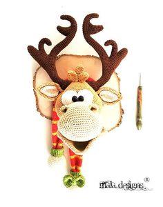 deer trophy - a crochet pattern by mala designs
