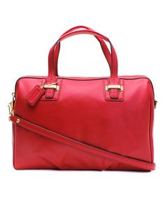 Another great find on #zulily! Coach Red Taylor Leather Satchel by Coach #zulilyfinds