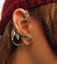 A Dragon Earring by ~FantasticallyMad on deviantART