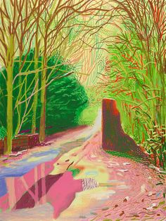 The last 10 years of David Hockney: from oil and canvas to iPad drawings – in pictures David Hockney Prints, David Hockney Ipad, David Hockney Paintings, David Hockney Landscapes, David Hockney Artist, Cool Landscapes, Landscape Paintings, Pop Art Posters, Ipad Art