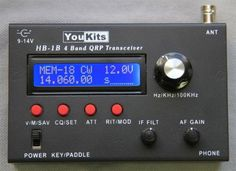 HB1B Four Band CW QRP Transceiver - 80-40-30-20 Meters