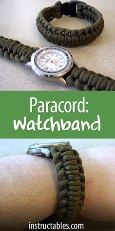 Learn to make a paracord watchband with a side release buckle using the alternate half-hitch. A great technique for watchbands, but also for a dog or cat collar.