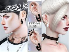 Clove share Asia Tổng hợp Custom Content The Sims 4 game: Ear Cuff Piercing Earrings the sims 4 _ Sims 4 Cc Skin, Sims Cc, Sims 4 Piercings, Male Piercings, Sims 4 Tattoos, Ear Cuff Piercing, Sims 4 Cc Shoes, Sims 4 Cc Makeup, Sims 4 Dresses