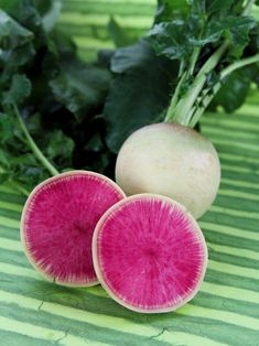 Watermelon Radish Seeds Sometimes called Watermelon radish seems to be all the rage when I go to farmers markets or local organic stores. The reason is not only the flavor, but the intense interior color just like a watermelon! The watermelon radish has