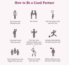 How to be a good partner.