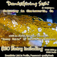 "Tommorrow!! Nov 14th ""DANKSGIVING SESH"" Come out to sesh support and be SUPRISED with Giveaways and Special Guests FREE RAFFLE ticket for EVERY attendee 6-1030pm in Chattsworth Ca ℹONLY 20$ ENTRY  18  Ca id/Prop 215  Wifi Tvs/Music Giftbags/Giveaways Snacks/Drinks PLUS MORE #ThanksgivingMonth #November #qfgFamily #TwistYourTipsFamily #qualityfreshglass #TwistYourTips #la #lalife #losangeles #chameleonextracts 4 Days Away..Tag your Friends by qualityfreshglass"