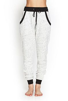 Marled Terrycloth PJ Sweatpants | FOREVER21 - 2000059884
