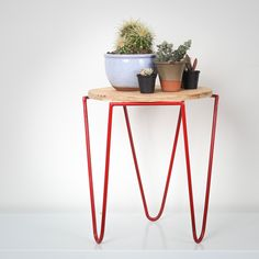 The stool is handmade from mild steel, which has been hand painted with red metal paint, and has a weatherproofed ply-wood top. It can be used as a stool, but its also ideal to use as a plant stand. Either way it can add a touch of colourful industrial style to any space. If you would like to order more than 1, please give us a shout at sales@oldandmade.co.za for a quote. Size: 42cm height x 36 cm diameter *plants not included Ply Wood, Couch Table, Industrial Style, Stool, Hand Painted, Quote, Touch, Canning, Space