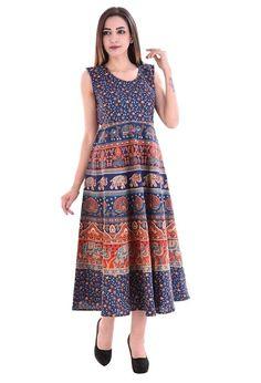 Attire Fashions Pure Cotton Designer Women Midi Dress Free Size