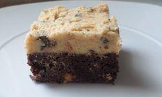 Recept voor cookie dough-brownies met chocolade-chunks    Recipe for cookie dough brownies with chocolate chunks