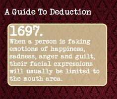 A Guide To Deduction - I actually already knew this one! I AM A HOLMES! I KNEW IT!