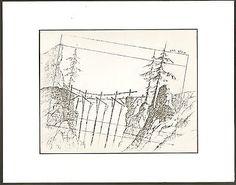 1982 HEIDI'S SONG BRIDGE LAYOUT copy Animator owned: R. A. Smith Estate! COA
