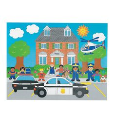 Party favor idea - 12 Design Your Own! Police Sticker Scenes - OrientalTrading.com