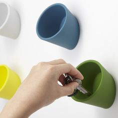 Cuppo - a minimal wall mounted storage container | Designer: Ideaco