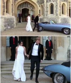The Duke and Duchess of Sussex leaving Windsor Castle for Frogmore House for their wedding reception