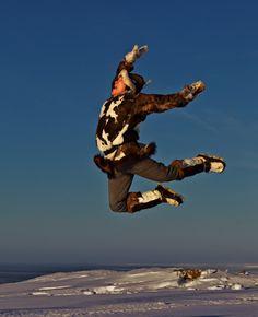 Vlad Rintytegin, the Flying Man. Chukotka. Photo © Galya Morrell