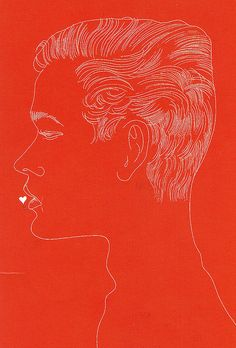 Andy Warhol, Unidentified Male with Heart at Lips, c.1957