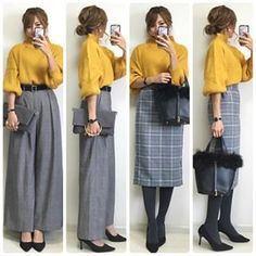 Take A Look At This Great Fashion Information! Mature Fashion, Work Fashion, Modest Fashion, Fashion Dresses, Simple Outfits, Fall Outfits, Fashion Capsule, Japan Fashion, Korean Fashion