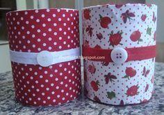 Rolos de fita adesiva, reciclagem, artesanato