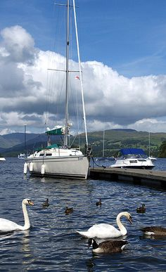 ༺✿༺ Lake Windermere in the Lake District, England's largest lake.