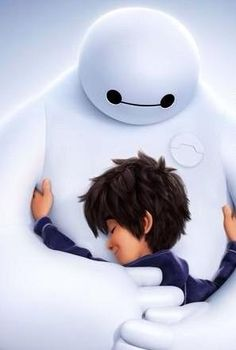 Awwww.... I know #Baymax isn't real, but he is so darn cute! I LOVED this movie!! #BigHero6
