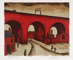 Artwork page for 'Stockport Viaduct', Alan Lowndes, 1973 Train Art, English Artists, Building Art, American Artists, Landscape Paintings, Landscape Art, Art Gallery, My Arts, Manchester