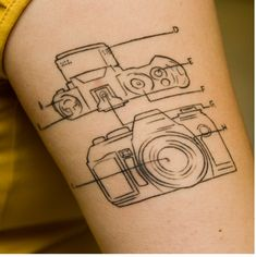 """camera tattoo came up when I searched for """"Indie tattoo"""""""