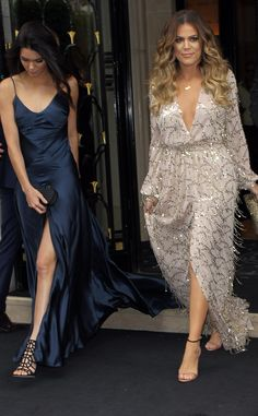 Kendall Jenner and Khloé Kardashian leave their Paris hotel dressed to the nines!