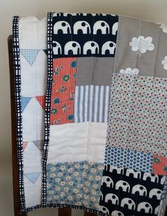 Baby or toddler quilt - Etsy.